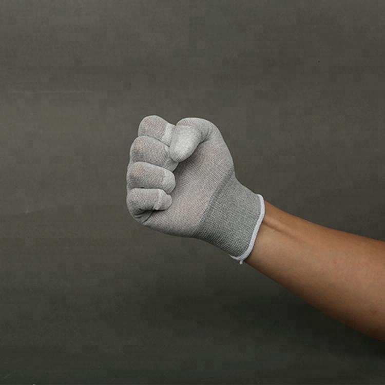 Non-Disposable Esd Pu Top Fit Coated Safety Gloves