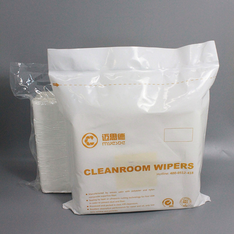 Industrial antistatic laser sealed 100% polyester cleanroom wiper, lint free cloth