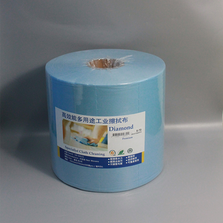 High Quality Low Lint Cleaning Paper Best Clean Cleanroom Wiper Industrial Cleaning Cloth Roll