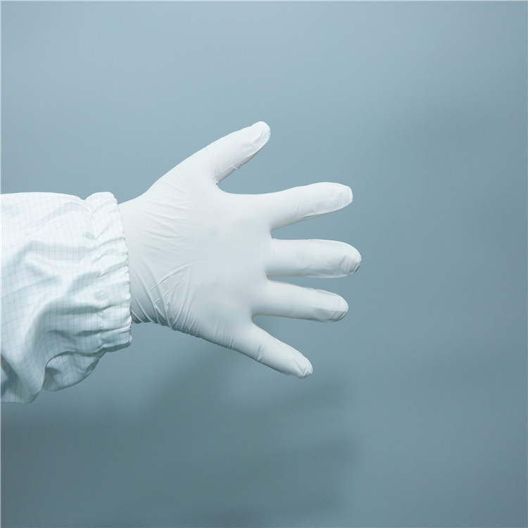 9'' powder free disposable 100% nitrile blue white color hand gloves