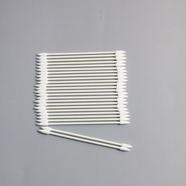 Industry Mini Double Sharp End Cleanroom Cotton Purified Swab