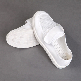 Pu Sole Electronic Factory Cleanroom Safety Magic Strap Esd Mesh Working Shoes