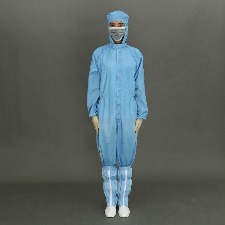 Hot selling Stand Collar Long Sleeve T Shirt Cleanroom Suit