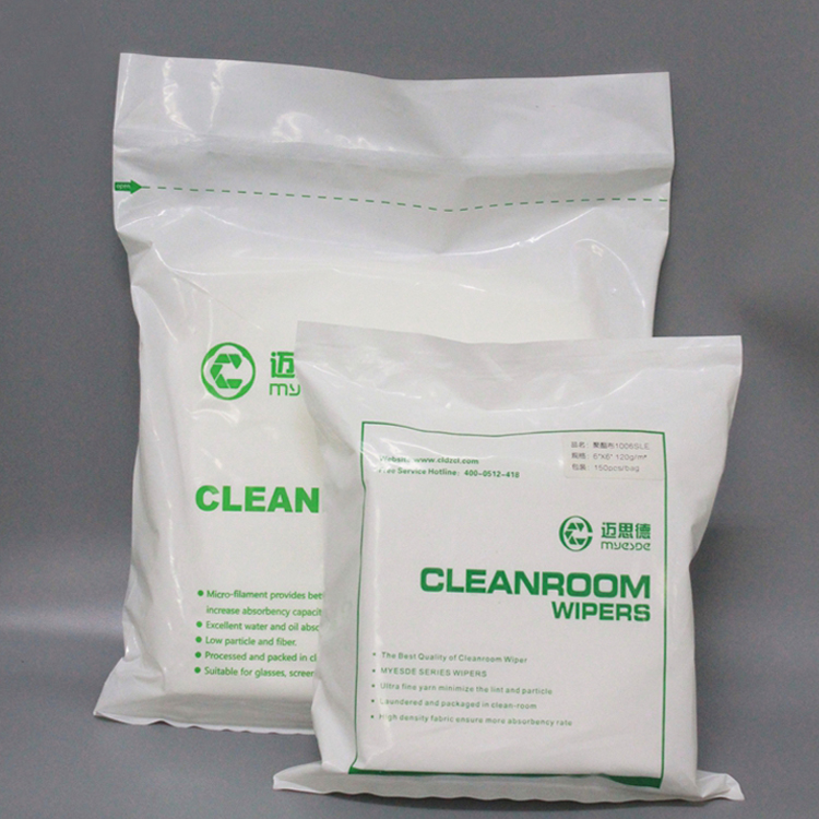 China Wholesale Non Woven White Polyester Cleanroom Industrial Microfiber Wiper