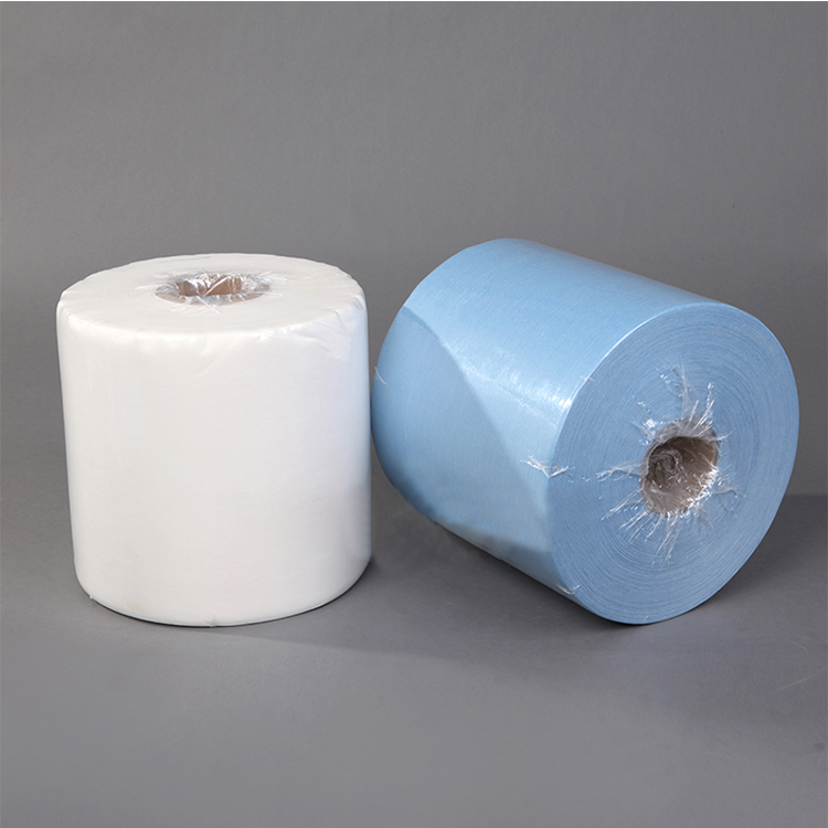 Hot Sale Woodpulp Pp Industrial Spunlace Nonwoven Wiper