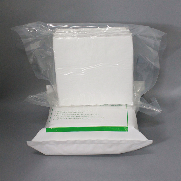 180gsm Class 10 9x9inch laser cut Industrial Microfiber Lint free Wipes Cleaning Cleanroom Microfiber Wipers