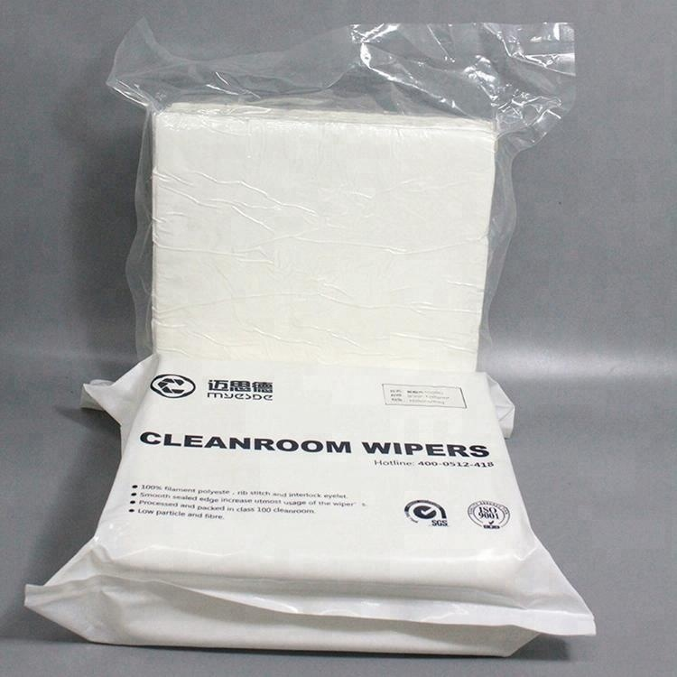 Customized Camera Lens Cleanroom Wiper Polyester 100% Wiper In Cleanroom
