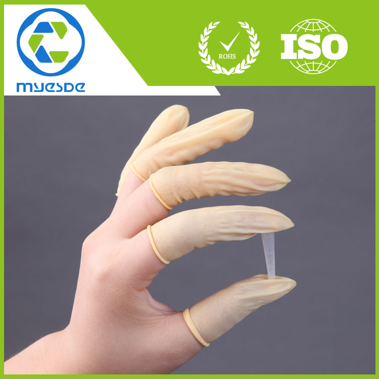 Wholesale yellow natural latex finger cots anti-slip finger cots malaysia