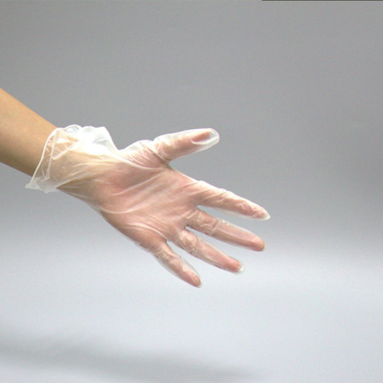Disposable high quality powder free disposable vinyl gloves for factory