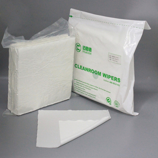 Hot Sales White 6*6 Microfiber Dustless Cleanroom Wiper Cloth
