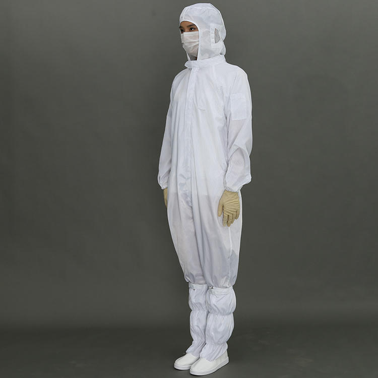 Antistatic Esd Jacket And Pants Cleanroom Suit Lint Free Smock