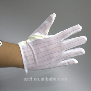Striped Antistatic Gloves Double Side Industrial ESD Work Glove