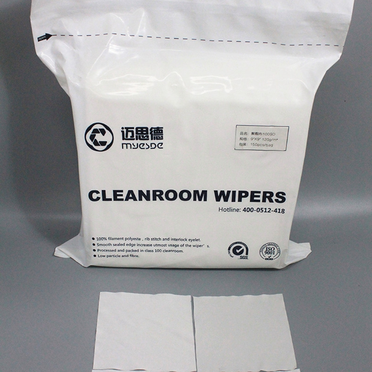 Polyester cleanroom Wiper 4x4 inch cleaning Wipers Disposable Clean Room Wipers