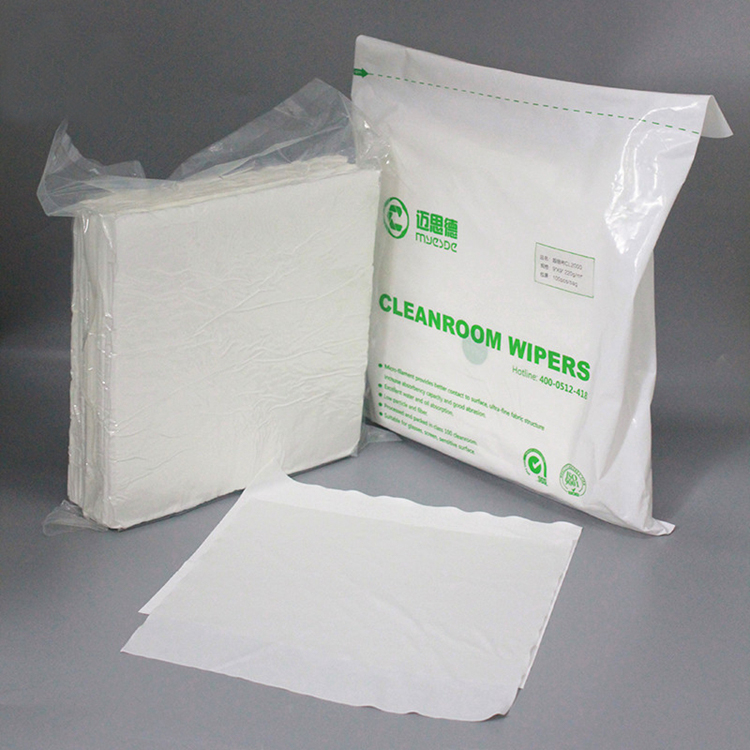 Best Clean High Quality Laser Sealed Lint Free 2-ply Polyester Cloth Cleanroom Wipers For Cleaning