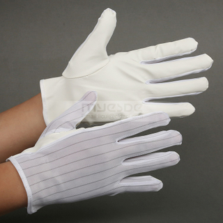 High Quality ESD Palm PU Coated Gloves Cleanroom Antistatic Working Glove