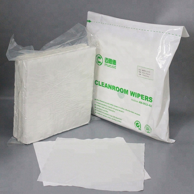 210gsm 6inch cleaning products Lint Free microfiber Cleanroom Wipers for Cleaning Equipments