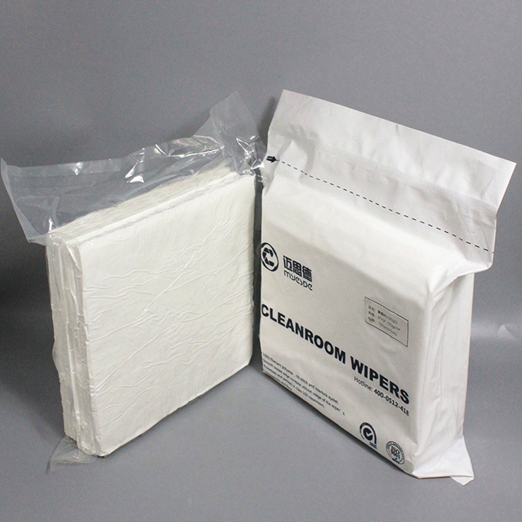 "9""x9"" Cleanroom Laundered Wiper 100% Polyester Kint Lint free Wipes"