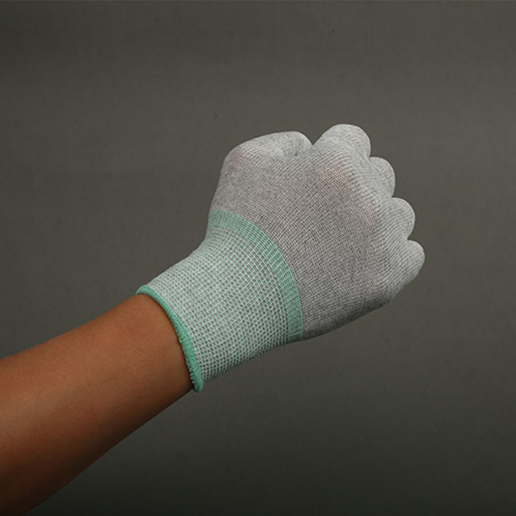 Nylon Esd 13Gauze Seamless Carbon Fiber Top Fit ESD Gloves