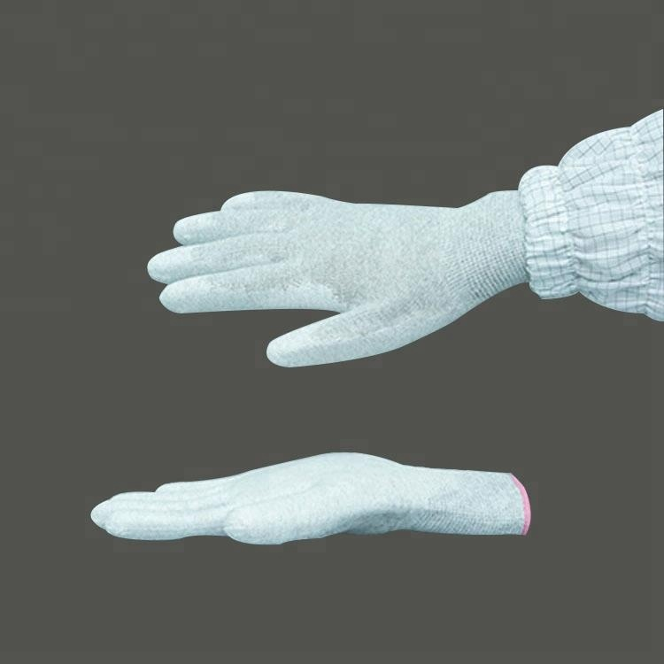 High Quality Pu Palm Coated Fit Antistatic Gloves