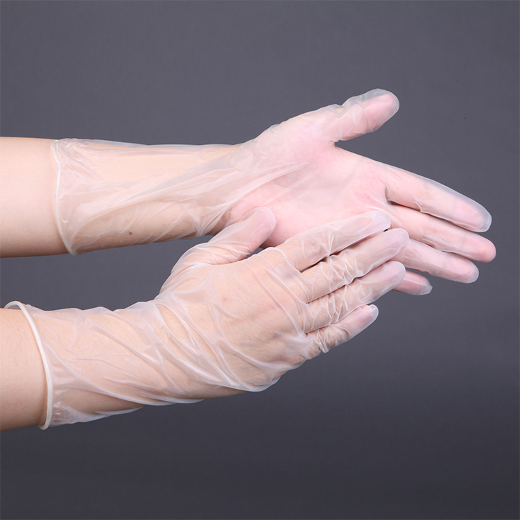 High Quality Disposable Transparent Powder Free 12inch Vinyl Pvc Gloves