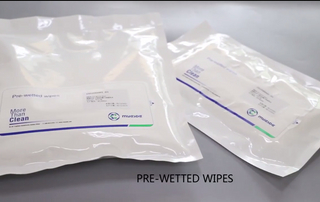 Myesde Non-Sterile OEM/ODM made in China Pre-wetted cleanroom Wiper